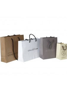 Sos Flat Tape Paper Carrier Bag